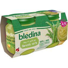 Blédina Mon 1er petit pot haricots verts dès 4 mois 2x130g