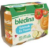 Blédina ratatouille riz colin 2x200g dès 8 mois