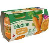 Blédina Blédina Mon 1er petit pot carottes dès 4 mois 2x130g
