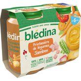 Blédina Blédina Petit pot printanière de légumes et jambon dès 6 mois 2x200g