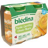 Blédina Blédina Petit pot purée carottes choux-fleurs dès 6 mois 2x200g