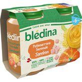 Blédina Blédina Petit pot potimarron semoule et jambon dès 6 mois 2x200g