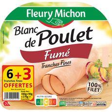 Fleury Michon Blanc de poulet fumé tranches fines x6 +3 offertes 270g