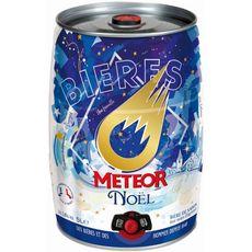METEOR Meteor Bière de Noël Alsacienne 5,8% mini fût pression 5l 5l