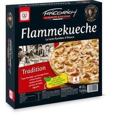 FRIEDRICH Flammekueche tradition d'Alsace 4 tartes 1.04kg