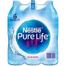 NESTLE Eau pure life eau de source plate 6x1,5l