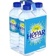 HEPAR Eau minérale plate naturelle bouteilles 4x50cl