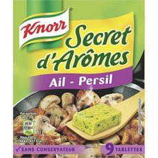 KNORR Knorr assaisonnement ail persil 9 cubes 90g