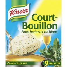 KNORR Court-bouillon fines herbes et vin blanc 9 tablettes 107g