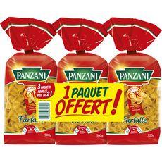 PANZANI Farfalle 2x500g +500g offert