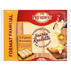 PRESIDENT PRESIDENT Plateau de fromage à raclette 800g 800g