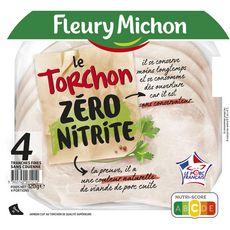 FLEURY MICHON Fleury Michon Jambon torchon sans nitrite sans couenne 4 tranches 120g 4 tranches 120g