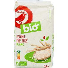 AUCHAN BIO Farine de riz blanc 1kg