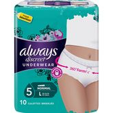 Always Always Discreet culottes incontinence normal taille L x10
