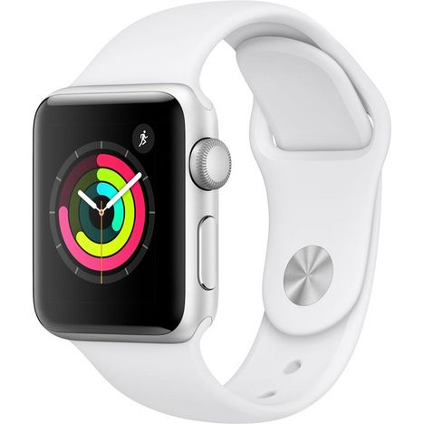 APPLE Montre connectée 38 mm - Watch Serie 3 - Alu argent/blanc
