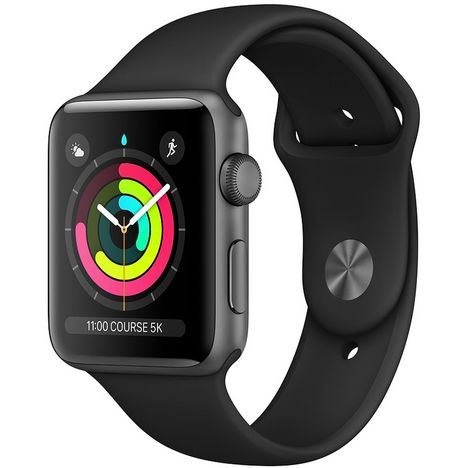 APPLE Montre connectée 42 mm - Watch Serie 3 - Alu gris/noir
