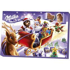 Milka Calendrier de l'avent chocolat au lait du pays alpin 200g