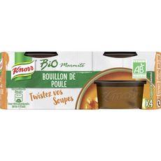 KNORR Marmite de bouillon de poule bio 4 portions 104g