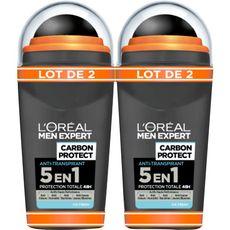 Men Expert déodorant homme 5 en1 carbon intense ice 2x50ml
