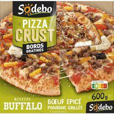 SODEBO Sodebo Pizza crust buffalo boeuf épicés et poivrons grillés 600g 600g