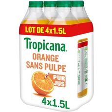 Tropicana pure premium orange sans pulpe 4x1,5l