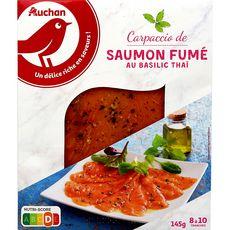 Auchan Carpaccio saumon fumé 145g