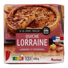 AUCHAN Quiche Lorraine aux lardons et emmental 400g