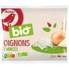 AUCHAN BIO Oignons émincés 3 portions 600g