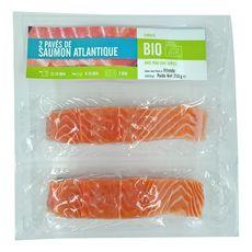 Pavé de saumon bio Atlantique avec peau sans arêtes 2 pièces 250g