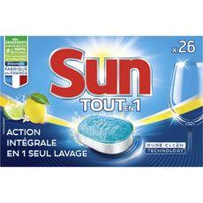 Sun Tablettes lave-vaisselle tout-en-1 citron x26