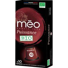 Méo Café bio en capsule compatible Nespresso 53g
