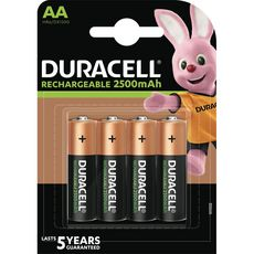 DURACELL Piles AA/HR36 rechargeables 2500mah 4 pièces