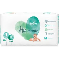 Pampers harmonie géant 2/5 kg x35 taille 1