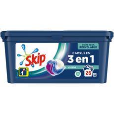Skip SKIP Lessive capsules hygiène 3en1