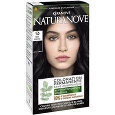 NATURANOVE Coloration permanente sans ammoniaque 1,0 noir intense 3 produits 1 kit