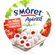 ST MORET Bille de fromage fourée au coulis de tomate 100g