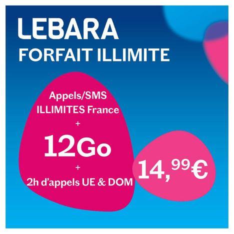 Carte Sim Prepayee Sans Abonnement Forfait Illimite Lebara Pas Cher A Prix Auchan