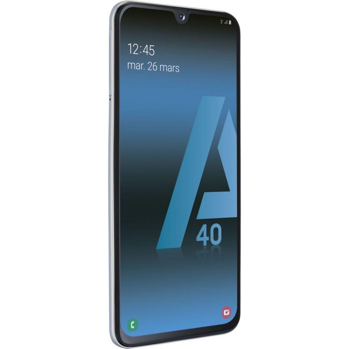 SAMSUNG Smartphone GALAXY A40  64 Go 5.9 pouces 4G Blanc + Batterie de secours UrbanFactory Blanc