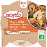 Babybio Babybio Assiette patate douce chataigne pintade dès 12 mois 230g