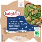Babybio Babybio Assiette légumes verts panais et boulghour dès 12 mois 230g