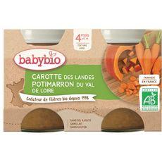 Babybio Petit pot carotte potimarron  dès 4 mois 2x130g