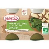 Babybio Babybio Petit pot pomme de terre épinard dès 4 mois 2x130g