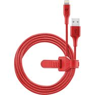 CELLULARLINE Câble de charge USB vers Lightning - Mâle/mâle - 1.2 m - Textile rouge