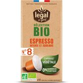 Legal café sélection espresso bio capsule x10 -50g