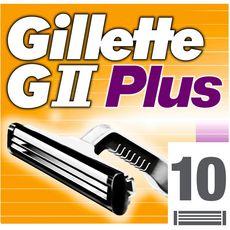 Gillette G 2 Plus recharges lames de rasoirs x10