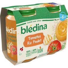Blédina Petit pot tomates riz et poulet dès 6 mois 2x200g