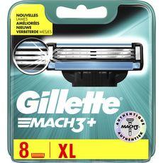Gillette Mach3+ recharges lames de rasoirs XL x8