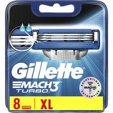Gillette Mach3 Turbo recharge lames de rasoir x8