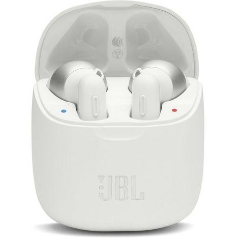 JBL Écouteurs sans fil Bluetooth avec étui de recharge - Blanc - Tune 220TWS