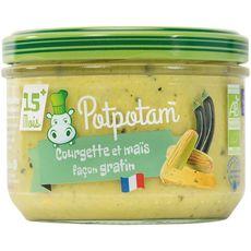 Potpotam bio courgettes et maïs façon gratin 180g dès6mois